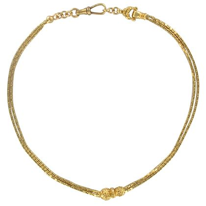 french-napoleon-3-19th-century-18-carat-yellow-gold-watch-chain-necklace