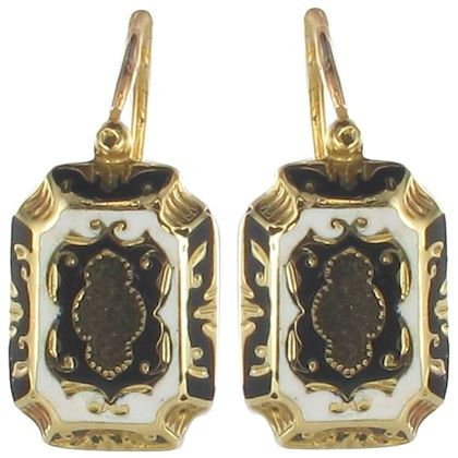 french-napoleon-3rd-enamelled-gold-drop-earrings