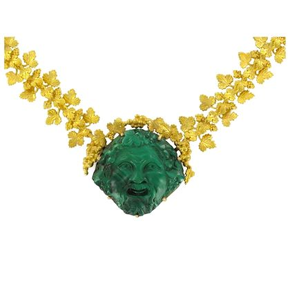 french-empire-malachite-cameo-gold-necklace