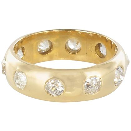 1-carat-diamond-yellow-gold-domed-band-ring