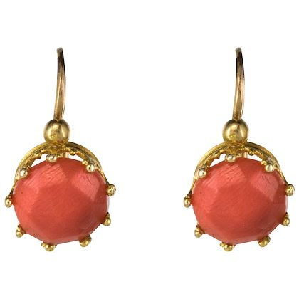 19th-century-coral-18-karats-rose-gold-drop-earrings
