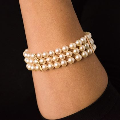 1960s-3-rows-japanese-cultured-pearl-bracelet
