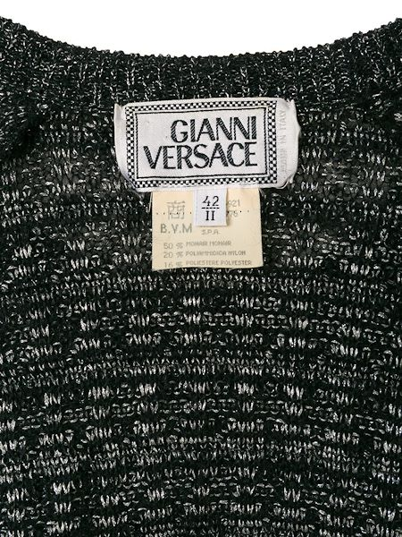 Picture of GIANNI VERSACE metallic stripes jumper