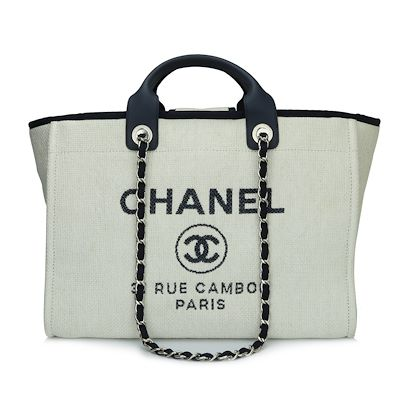 bdac8072c1e6 ... chanel-deauville-tote-large-navy-canvas-silver-hardware-