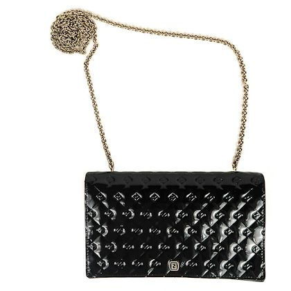 fendi-wallet-on-a-chain-fendilicious-ff-black-patent-leather-bag-drop-in-chain-pre-owned-used