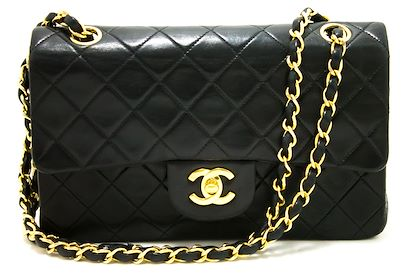 chanel-255-double-flap-9-chain-shoulder-bag-black-quilted-lamb-18