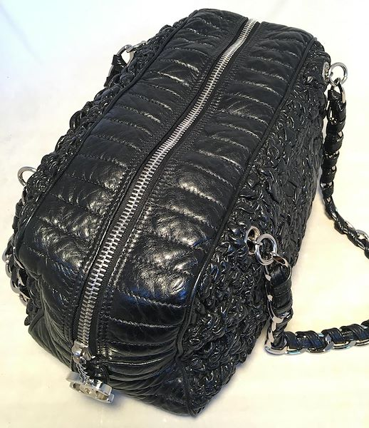 chanel-black-quilted-and-ruched-leather-shoulder-bag-shopping-tote