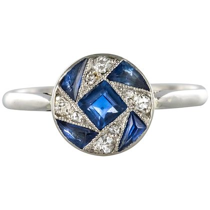 french-1925-art-deco-sapphire-diamonds-white-gold-round-ring