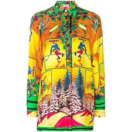 Picture of VERSACE SPORT ski print shirt