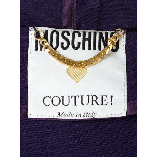 Picture of MOSCHINO medal embellished coat