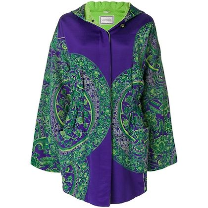 Picture of GIANNI VERSACE floral padded hooded coat