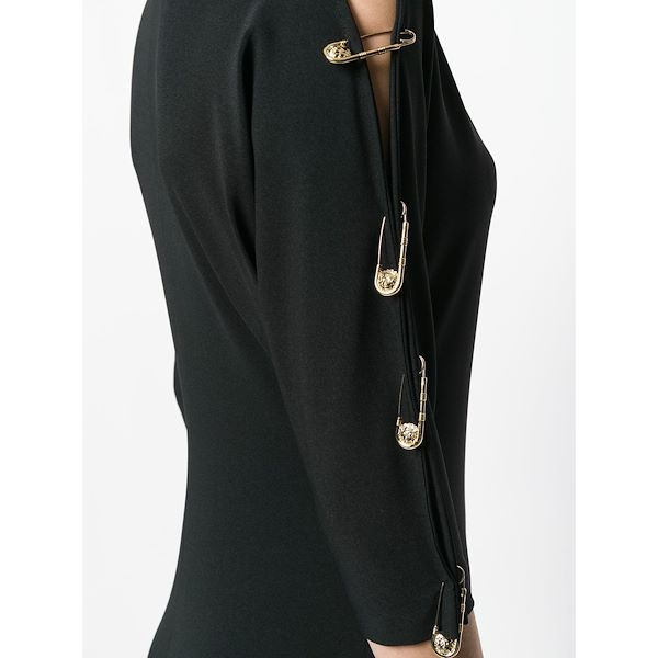 Picture of GIANNI VERSACE safety pin mini dress