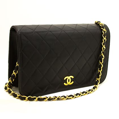 chanel-chain-shoulder-bag-black-clutch-flap-quilted-lambskin-22