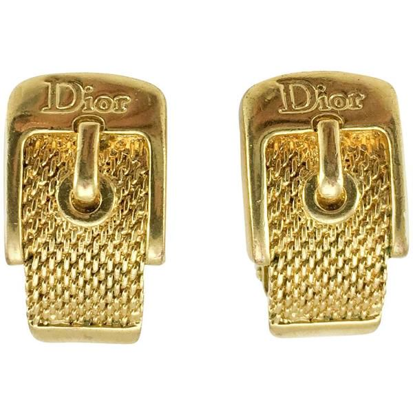 dior-gold-plated-buckle-earrings-2000s