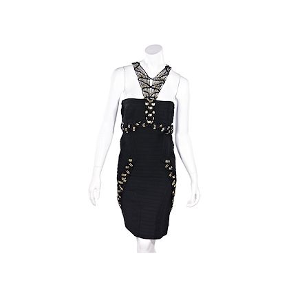 black-herve-leger-embellished-bandage-dress