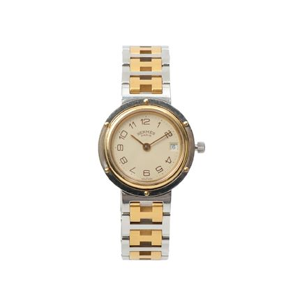 hermes-clipper-watch-silvergold