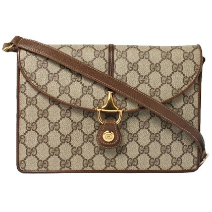 gucci-gg-pattern-logo-plate-shoulder-bag-brown-4