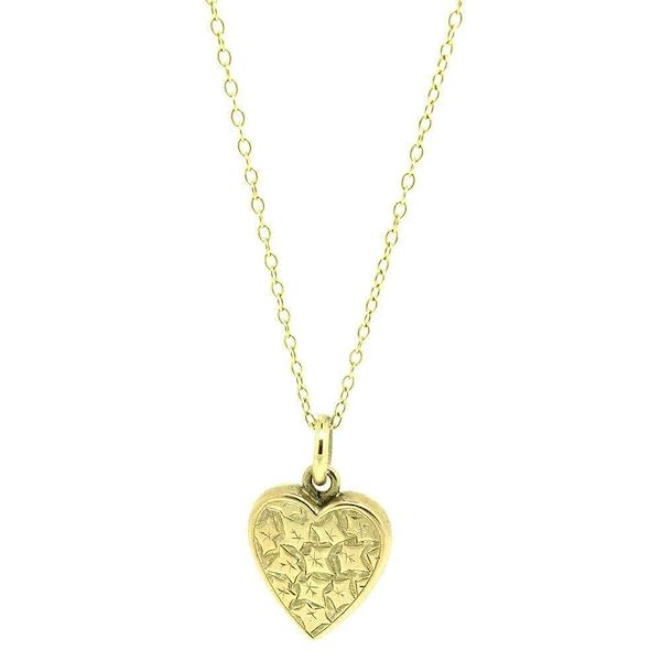 antique-edwardian-9ct-gold-ivy-heart-charm-necklace
