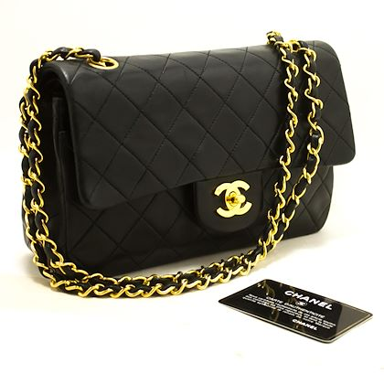 chanel-255-double-flap-9-chain-shoulder-bag-black-quilted-lamb-19