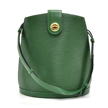 louis-vuitton-cluny-green-epi-leather-shoulder-bag