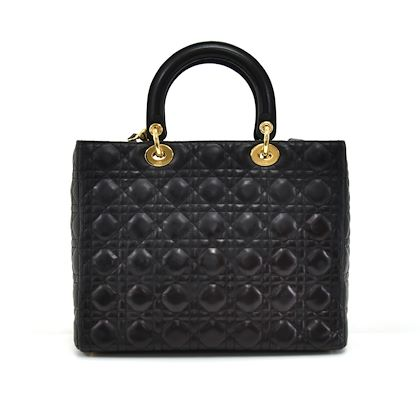 christian-dior-lady-dior-large-black-quilted-cannage-leather-handbag-strap-3