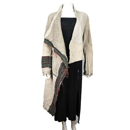 greg-lauren-nomad-striped-coat-blanket-jacket-size-2-medium-m-new