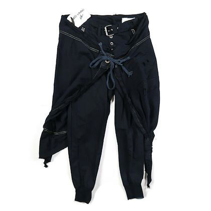 greg-lauren-warrior-lounge-pants-blue-womens-size-2-medium-m-new