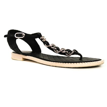 chanel-chain-sandals-black-leather-t-strap-cc-logo-385-85-pre-owned-used