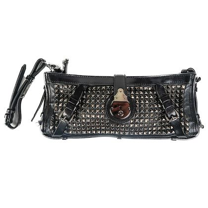 burberry-stud-clutch-wristlet-bag-black-knight-leather-wallet-medium-pre-owned-used-2