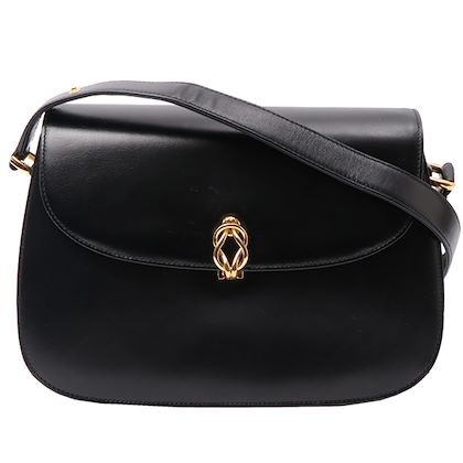 38894e1895a6 ... gucci-leather-round-flap-shoulder-bag-black-2