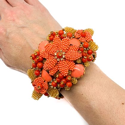 vintage-stanley-hagler-cuff-featuring-coral-microbeading-crystals-1990s-2