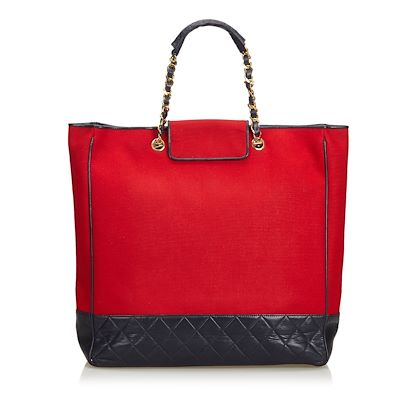 red-black-chanel-cotton-tote-bag