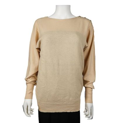 chanel-cashmere-sweater-cc-shoulder-buttons-vintage-cream-crewneck-large-l-pre-owned-used