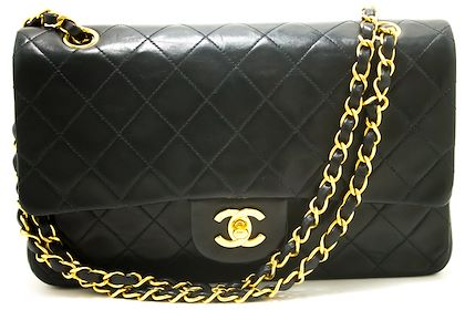 chanel-255-double-flap-10-chain-shoulder-bag-black-quilted-lamb-30