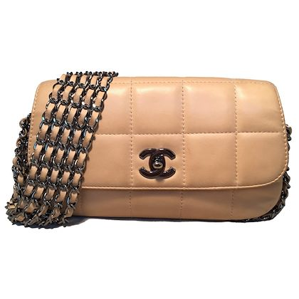 chanel-nude-square-quilted-leather-5-chain-classic-flap-shoulder-bag
