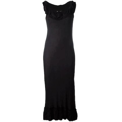 YVES SAINT LAURENT ruffled long jersey dress