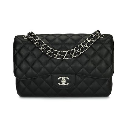 chanel-double-flap-jumbo-black-caviar-silver-hardware-2017