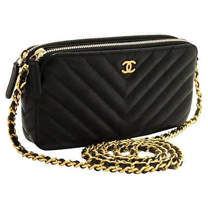 chanel-lambskin-v-stitch-woc-wallet-on-chain-double-zip-chain-bag