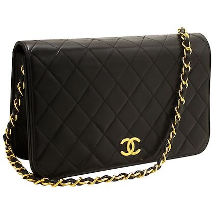 chanel-chain-shoulder-bag-black-clutch-flap-quilted-lambskin-26