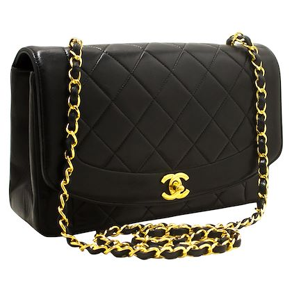 chanel-diana-chain-flap-shoulder-crossbody-bag-black-quilted-lamb-14