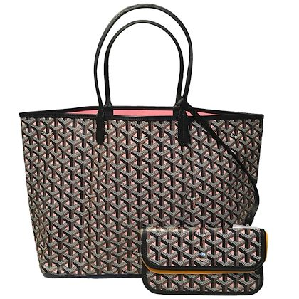 Limited Edition Paris Only Goyard Pink and Black Special Color St Louis Tote Pm