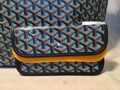 NWOT Limited Edition Goyard Turquoise Blue Special Color St. Louis GM Tote
