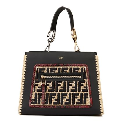 black-calfskin-leather-embroidered-raffia-red-python-leather-small-runaway-2