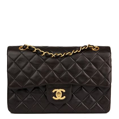 4223ba96f062c1 ... black-quilted-lambskin-vintage-small-classic-double-flap- · Chanel