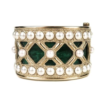 chanel-2016-jade-pearl-bracelet-gold-wide-cuff-green-bangle-16a-pre-owned-used