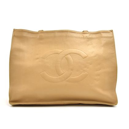 f9f8d50ed305 ... vintage-chanel-jumbo-xl-beige-lambskin-leather-shoulder-