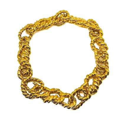 vintage-chanel-huge-statement-gold-rope-necklace-1990-collection