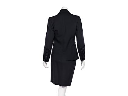 black-vintage-yves-saint-laurent-wool-skirt-suit-set
