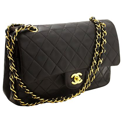 chanel-255-double-flap-10-chain-shoulder-bag-black-quilted-lamb-32