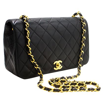 chanel-chain-shoulder-crossbody-bag-black-flap-quilted-lambskin-5